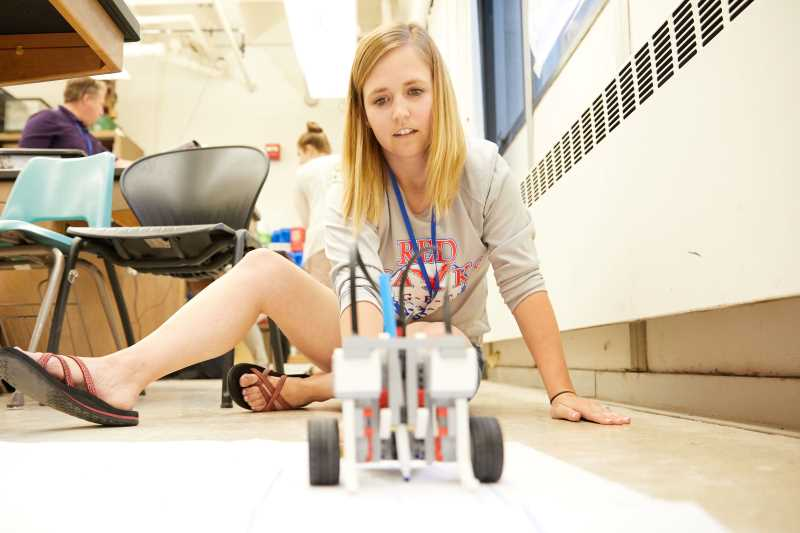 Teachers participate in a 2017 workshop at UW-La Crosse where they built robots and learned about new ways to incorporate STEM — or science, technology, engineering and mathematics concepts — in their classrooms.