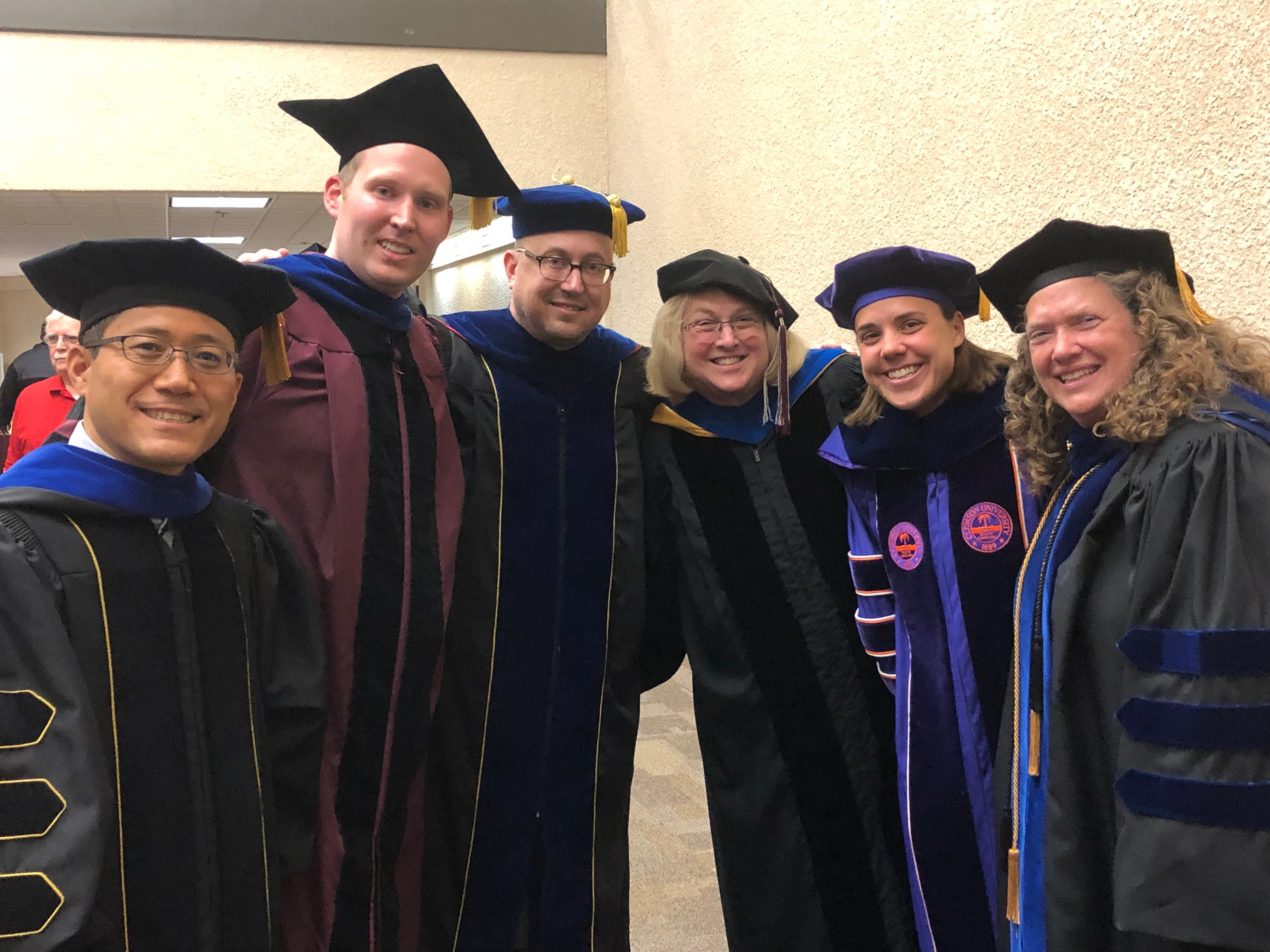 RMTR faculty and Provost Morgan at May 2019 Graduation Ceremony