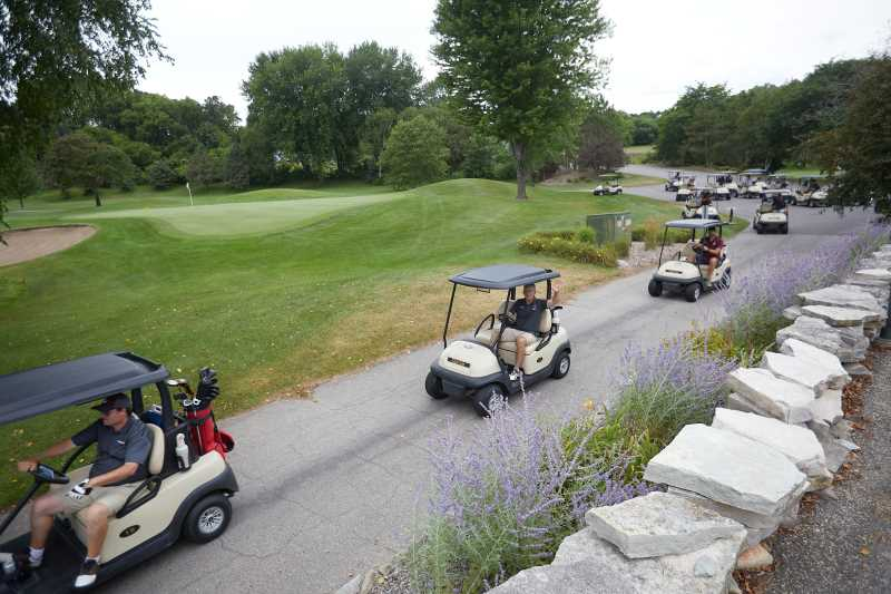 Golfers head out on the course for last year's UWL Alumni & Friends Golf Outing. This year, golfers worldwide can join in with the virtual option.