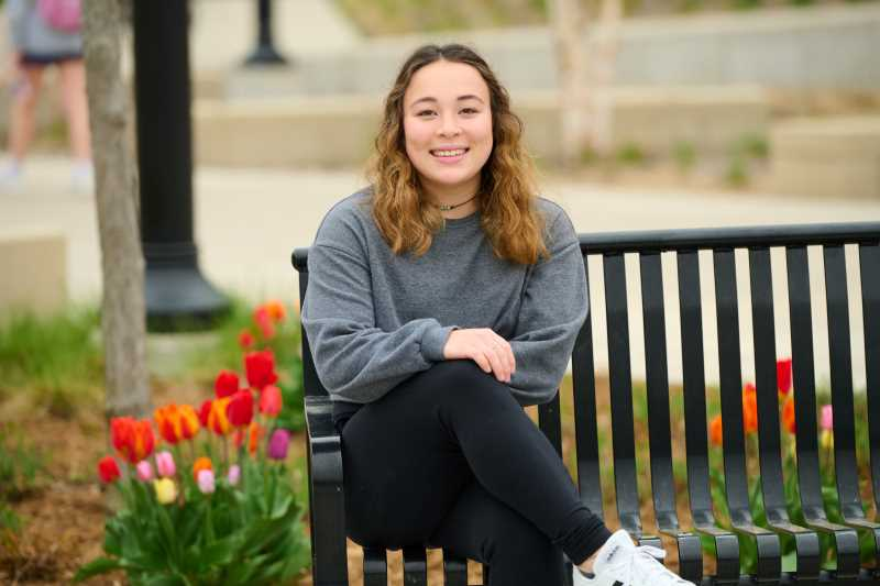 Jade Wahlgren, a senior majoring in archaeological studies, has received the inaugural Prairie Springs Environmental Leadership Award for students. The award recognizes a UWL student who is taking environmental action in the community and inspiring others to do the same.