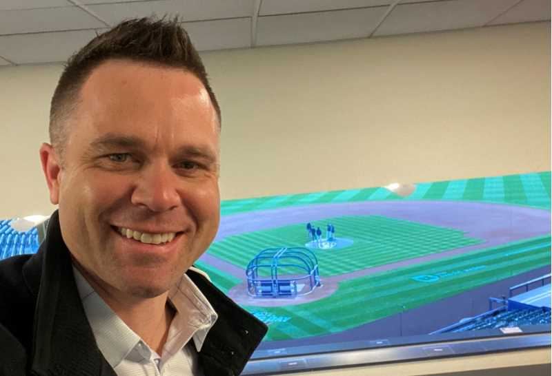 "Former UWL Eagle Vinny Rottino, '02, has joined the broadcast team of ""Brewers Live,"" providing pre- and post-game analysis on Bally Sports Wisconsin. ""There have been a number of challenges,"" Rottino says, ""but I'd say the biggest one has been learning to talk about baseball without getting too far into the weeds."""