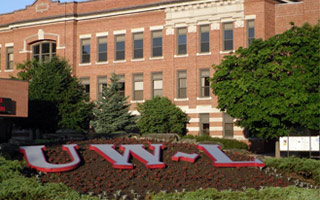 Graff Main Hall UWL sign