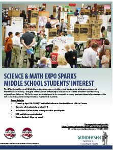 2019 Science & Math Expo Flyer