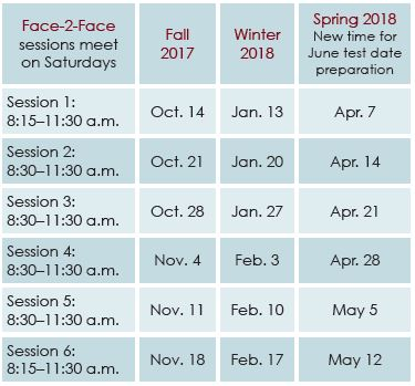 ACT Test Prep Dates