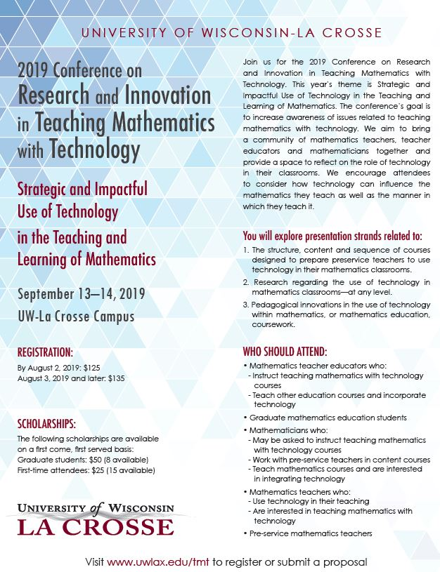 Welcome – RESEARCH AND INNOVATION IN TEACHING MATHEMATICS WITH