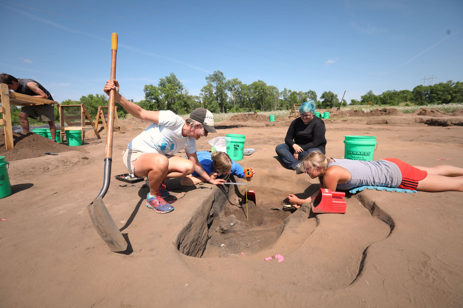 Archaeology field school excavation