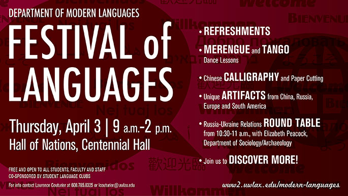 Festival of languages poster