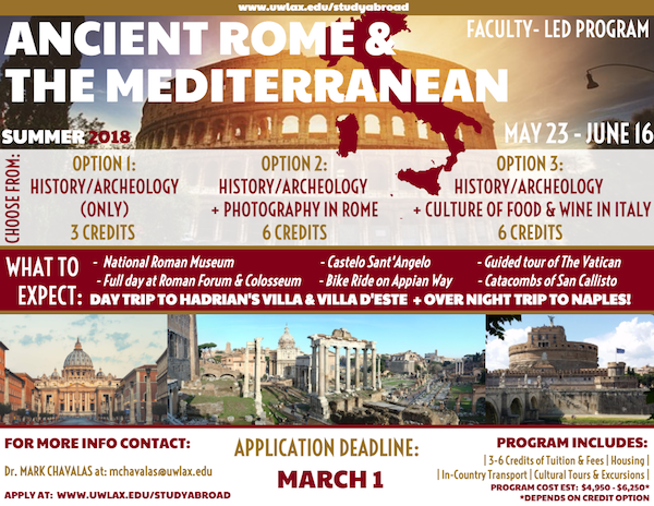 Rome Study Abroad Poster
