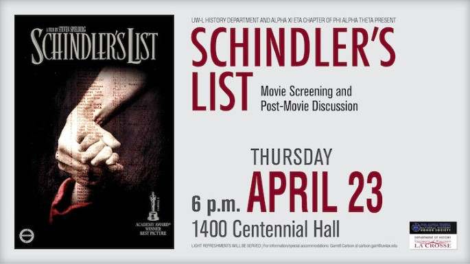 PAT Schindler's List Poster Normal Size