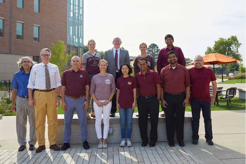 MGT Dept. faculty Wear Maroon for 2019 UWL Wear Maroon Day