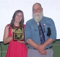 Amy Baker with award  presented by Marc Rott
