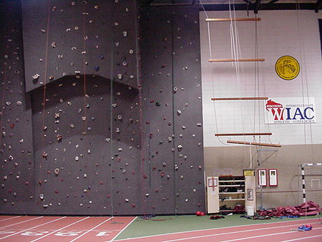 Indoor ropes course - climbing wall and giants ladder