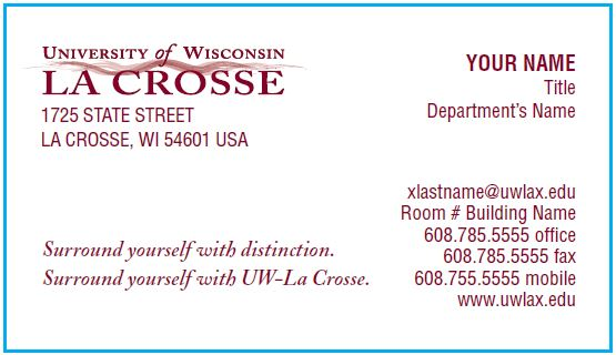 Business Cards Business Services Uw La Crosse