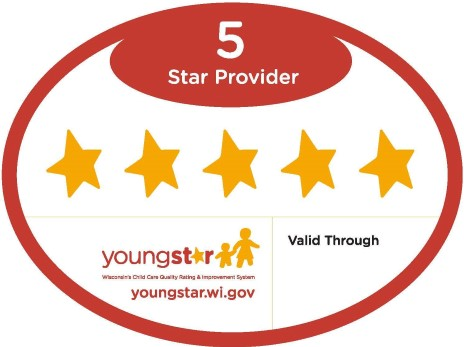 YoungStar certified 5 Star provider