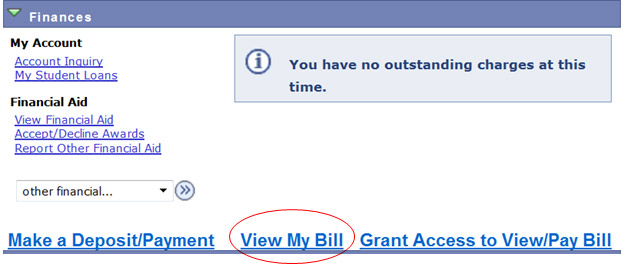 View bill tutorial - Account view