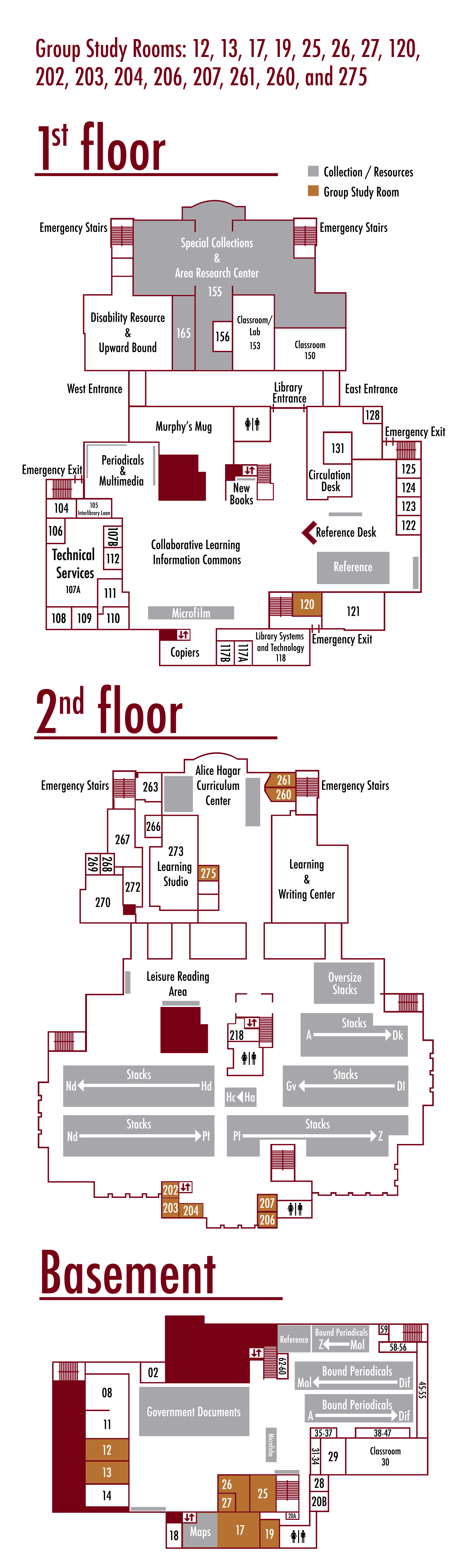 Rooms in Mullins Library | University of Arkansas Libraries
