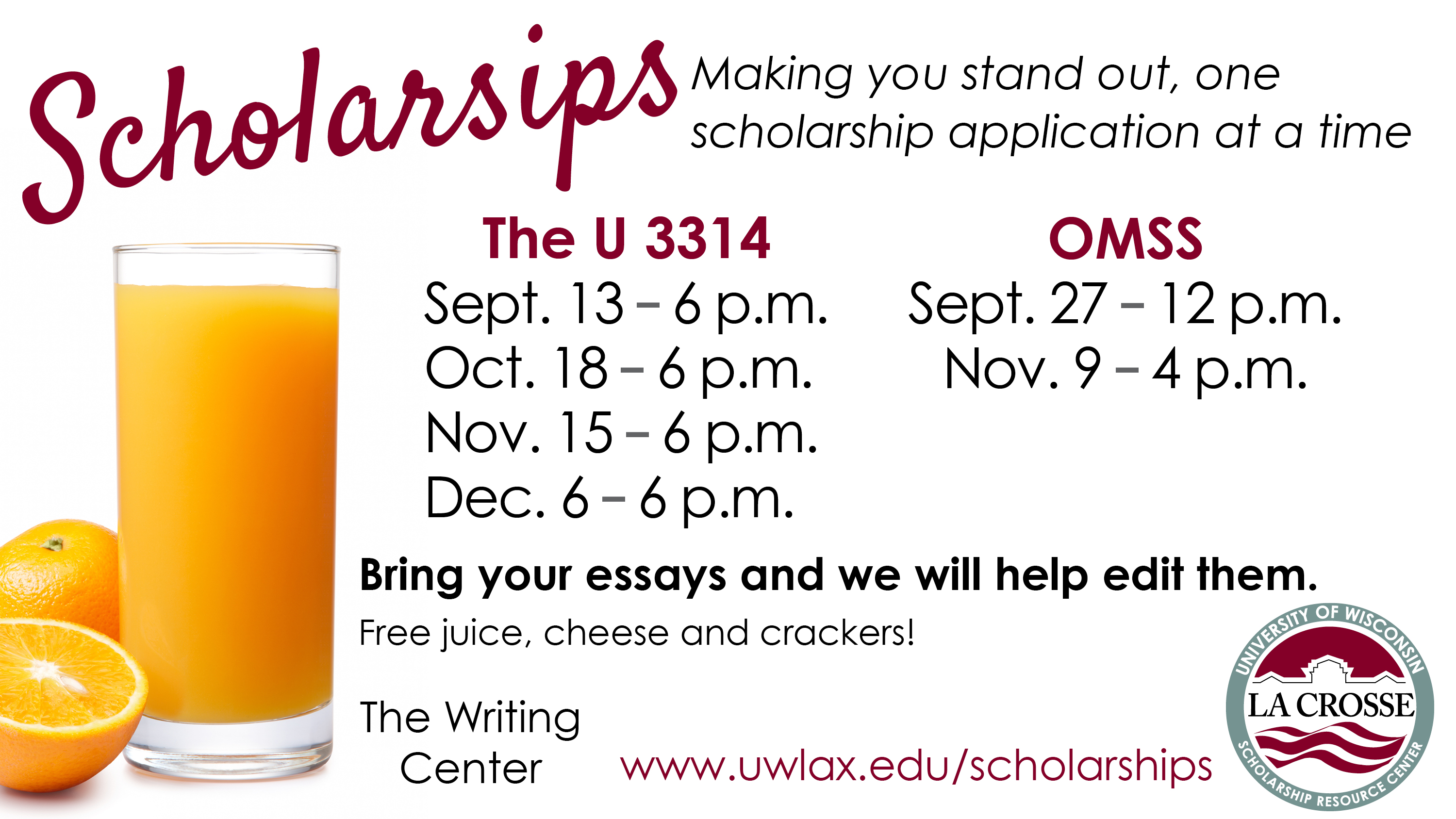 Scholarsip information for Fall 2017!