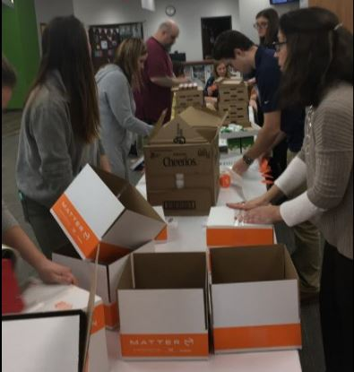 Filling Matter Boxes for 100 Acts of Good